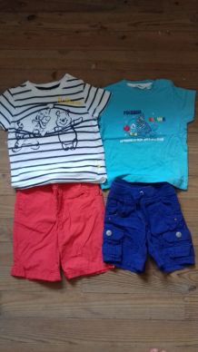 lot 4 short+ 4 t-shirt