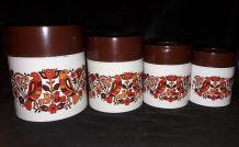 4 boîtes gigognes en fer des années 70'