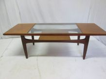 Table basse teck vintage