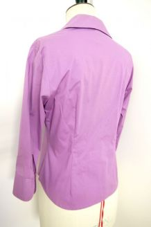 Chemise cintrée chic working girl violet lilas parme vintage