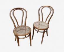 Josef Hoffman 2 chaises cannées