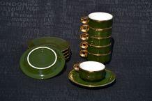 Tasses à café bistrot anciennes - vendues par 6