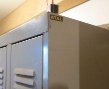 Vestiaire métallique industriel 5 portes Atal