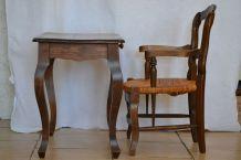 TABLE ET FAUTEUIL ENFANT ANCIEN