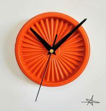 """Horloge vintage, pendule """"Tupperware Orange"""""""
