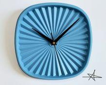 """Horloge vintage, pendule """"Tupperware Bleu"""""""