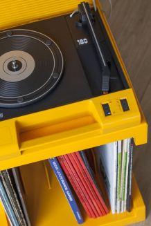 Tourne disque Philips 180 + range vinyle  SOMM - Vintage 70s
