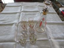 service à liqueur en cristal années 60/70