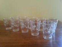 Vends set de 10 grands verres de table