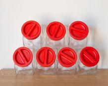 7 bocaux de confiserie
