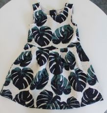 Robe H&M motif feuilles 18 - 24 mois