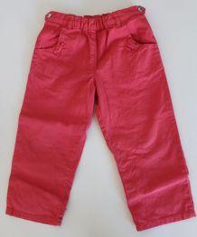 Pantalon Petit Bateau fille 24 mois corail