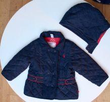 Manteau fille bleu marine Obaïbi 12 mois