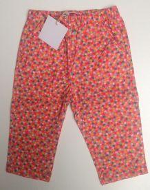 Pantalon DPAM fleuri neuf 1 an / 12 mois