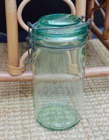 Bocal ancien l'Idéale vert clair 1,5 litres
