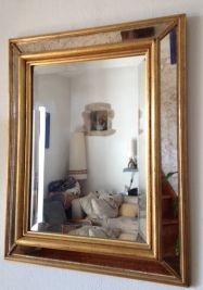 Miroir multiface avec cadre doré en bois