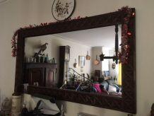 Grand Miroir en bois massif