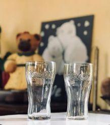 Duo de verres coca cola