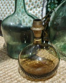 Pied de lampe transparent seventies
