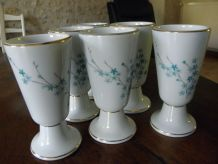Lot de 6 mazagrans en porcelaine