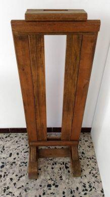 Présentoir de tableau style chevalet en bois ancien