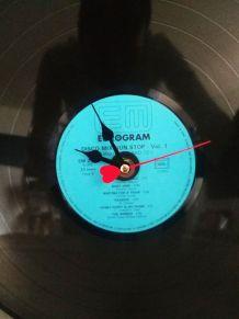 Pendule Horloge disque Vinyle 33 tours do it yourself