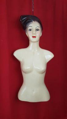 Buste mannequin de vitrine - thermoformage vintage - 1960