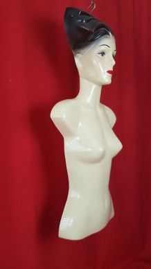 Buste mannequin de vitrine - thermoformage vintage - 1960