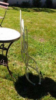 4 Chaises fer forgé et mosaique