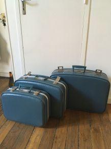 Lot de 3 valises gigognes vintage