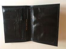 Portefeuille cuir noir unisex