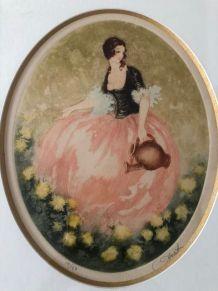 Tableau femme à la cruche