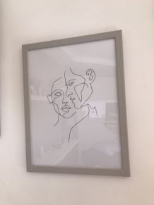 Poster «Faces» 30x40 cm