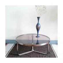 Table basse moderniste - Métal et verre