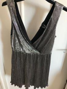 Robe tunique métalisée