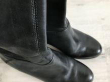 Bottes cuir Buffalo noire