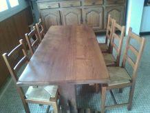 Meuble en chêne  + Table Monastère + 6 chaises