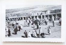 Photo vintage le souk de Marrakech - Maroc - 1934