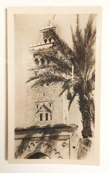 Photo vintage la Koutoubia Marrakech Maroc années 30