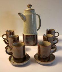 Service à café – grès émaillé – années 70