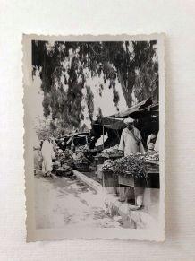 Photo vintage le souk Marrakech 1940