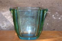 Seau à glaçons en verre de Murano multicolore