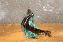 Statuette phoque en verre de Murano