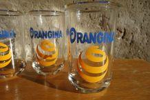4 verres ORANGINA