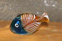 Statuette en verre poisson Murano vintage