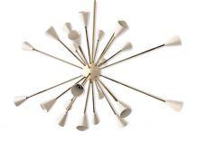 Lustre Sputnik en laiton 24 lumières couleur blanc ivoire