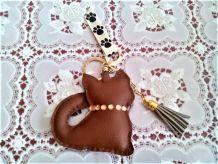 Porte-clef marron