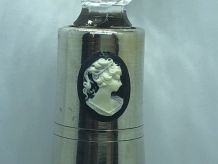 Rare BOUTEILLE ANCIENNE ARGENT MASSIF CAME VODKA WHISKY FLAS