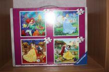 Mallette 4 puzzles princesses disney