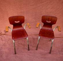 Fauteuils / chaises enfant tubax années 60